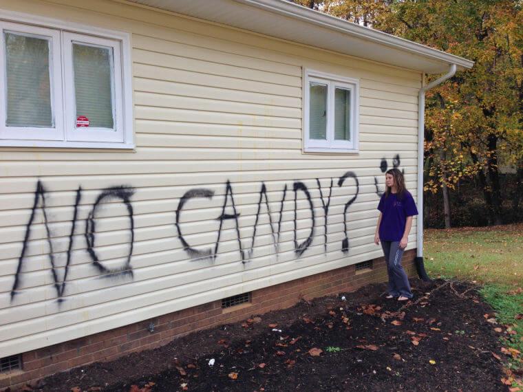 Halloween Vandalism