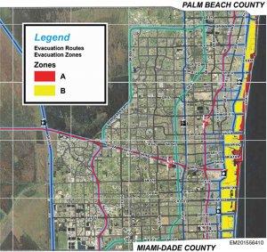Broward County Evacuation Zones